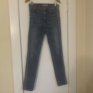 Vince Distressed Skinny Blue Jeans 27 x 31